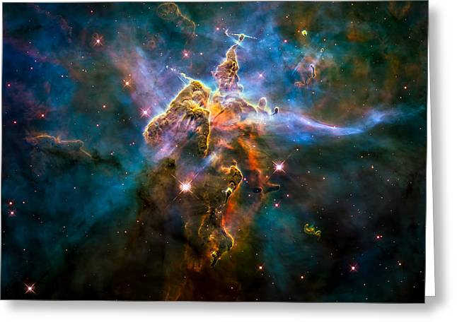 Nasa Greeting Cards - Mystic Mountain Greeting Card by Space Art Pictures