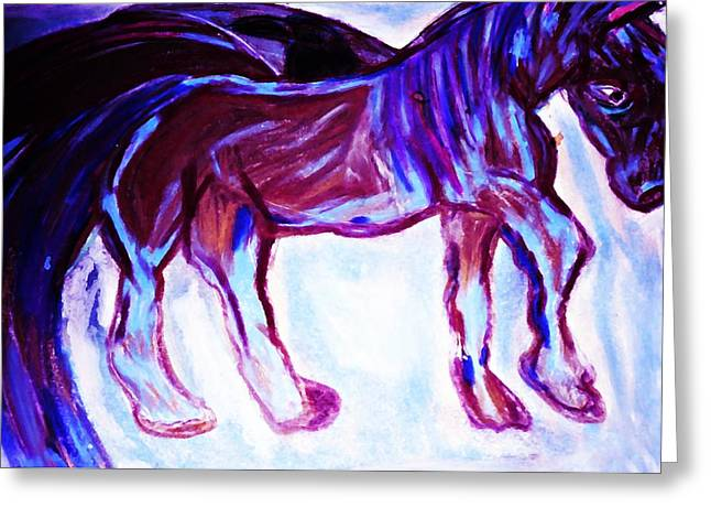 Fantasy Creatures Pastels Greeting Cards - Mystic Pegasus Greeting Card by Dawna Raven Sky