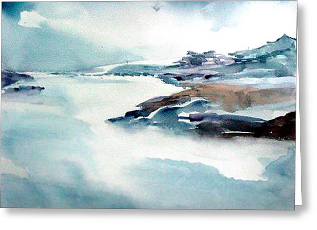 River Mist Greeting Cards - Mystic River Greeting Card by Anil Nene
