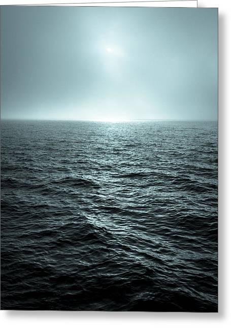 Fog At Sea Greeting Cards - Mystic Sea Greeting Card by Bobby Palosaari