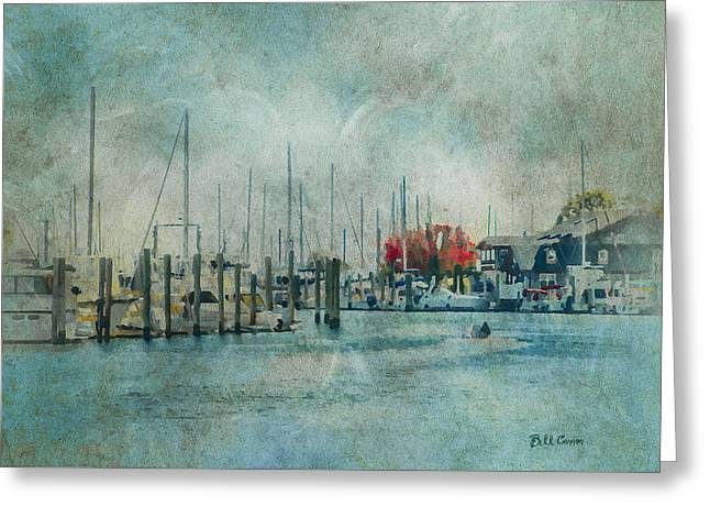 Mystic Seaport - Mystic Connecticut Greeting Card by Bill Cannon