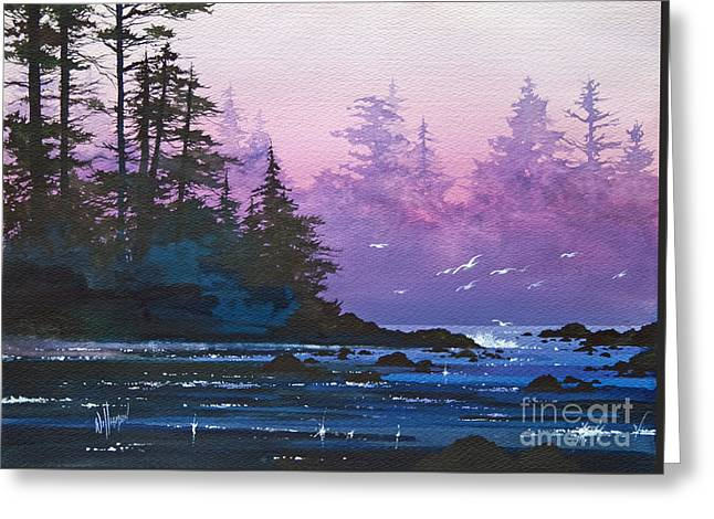 Landscape Framed Prints Greeting Cards - Mystic Shore Greeting Card by James Williamson
