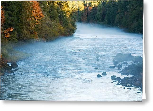 Umpqua River Greeting Cards - Mystic Umpqua Greeting Card by Tyra  OBryant