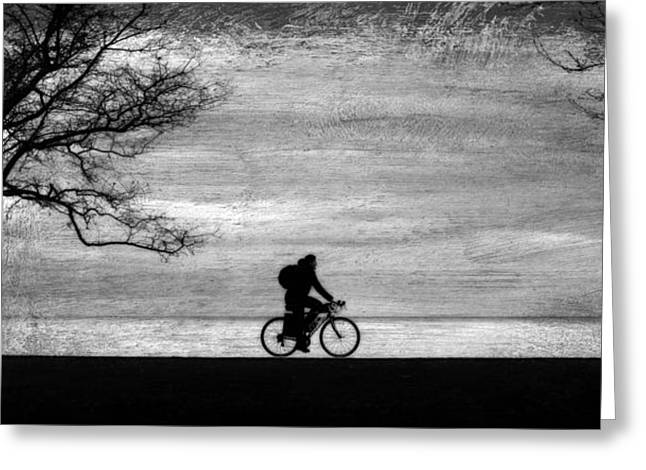 Mystical Bike Ride To Shangri-la Greeting Card by Robert Frank Gabriel