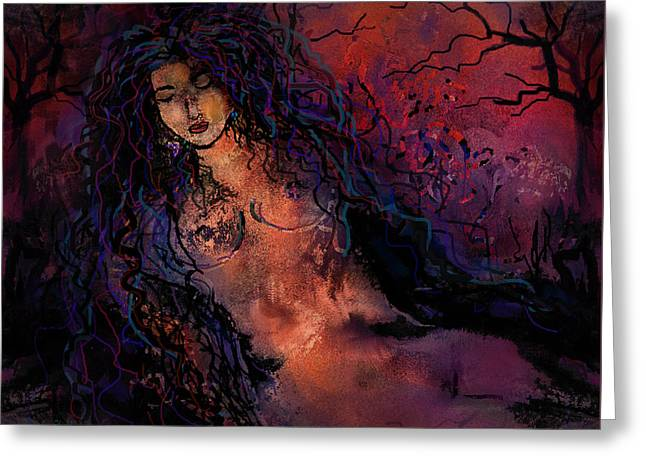 Beauty In Nature Mixed Media Greeting Cards - Mystical Forest Greeting Card by Natalie Holland