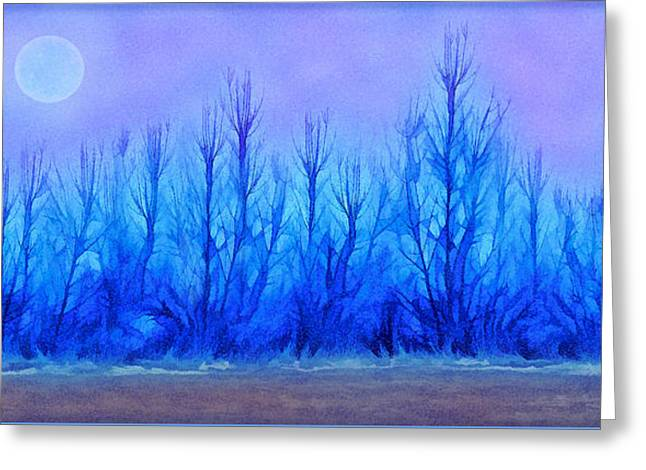 Mystical Landscape Mixed Media Greeting Cards - Mystical Forest Reveries Greeting Card by Joel Bruce Wallach