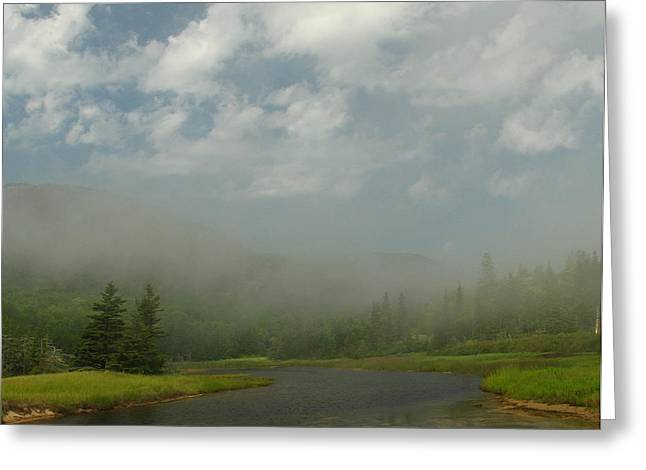 Maine Beach Greeting Cards - Mystical Landscape Greeting Card by Juergen Roth