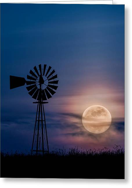 Mystical Moon Greeting Card by Bill Wakeley