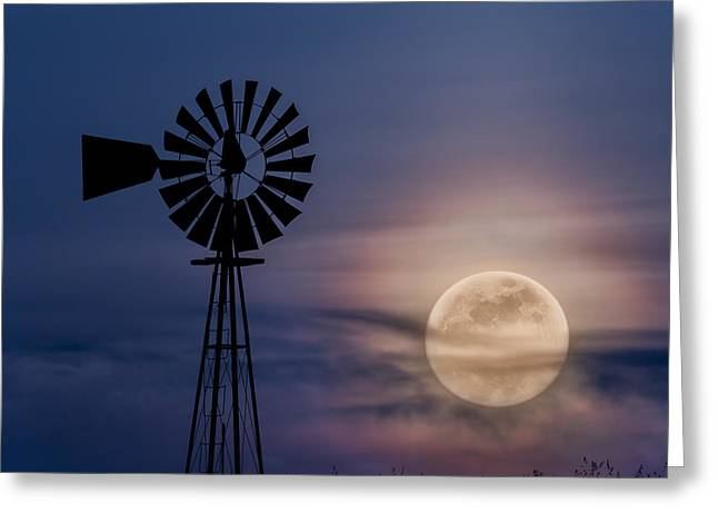 Mystical Moon Square Greeting Card by Bill Wakeley
