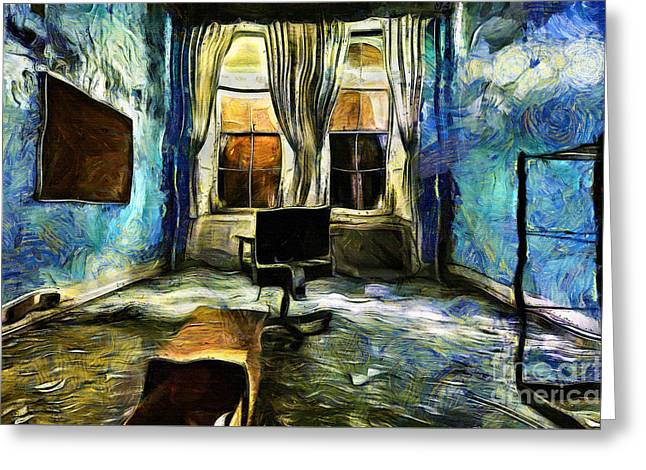Mystical Room Greeting Card by Milan Karadzic