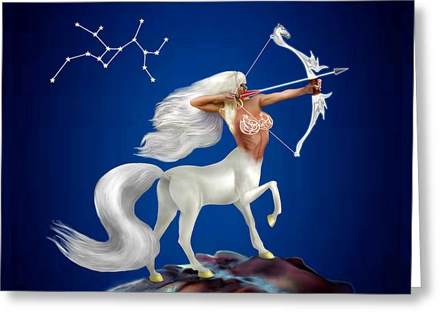 Star Greeting Cards - Mystical Sagittarius Greeting Card by Glenn Holbrook
