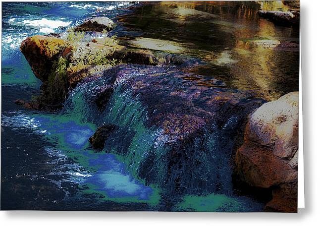 Runoff Greeting Cards - Mystical Springs Greeting Card by DigiArt Diaries by Vicky B Fuller