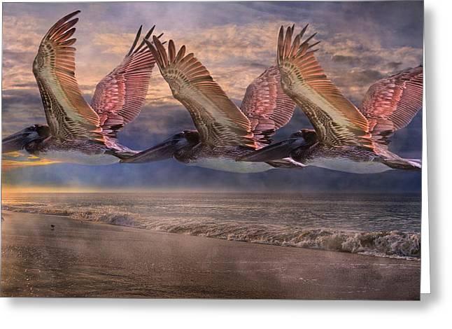 Mystical Trio Greeting Card by Betsy C Knapp