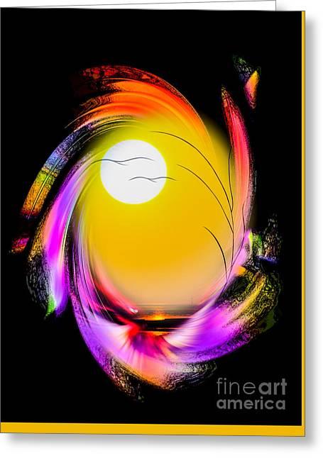 Fantasy World Greeting Cards - Mystical world Sunrise Greeting Card by Walter Zettl