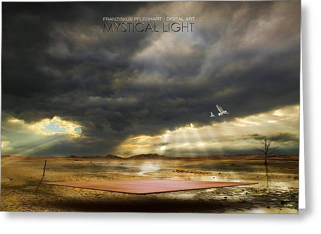 Evening Lights Mixed Media Greeting Cards - Mystical Light Greeting Card by Franziskus Pfleghart