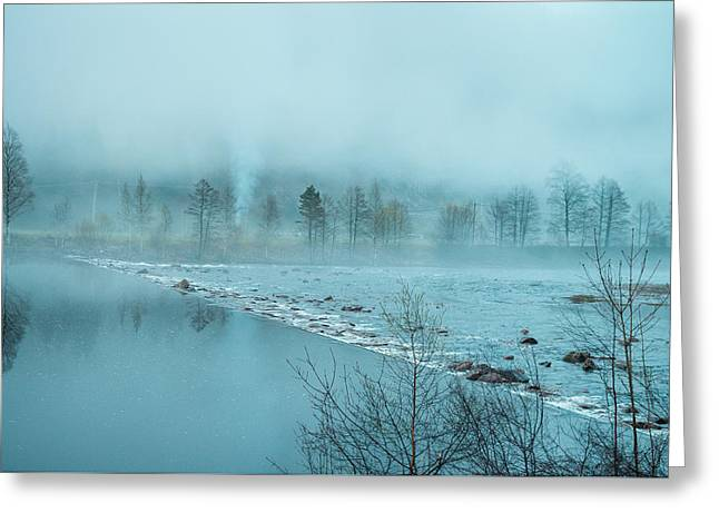 Kjg Greeting Cards - Mystique in the fog Greeting Card by Mirra Photography