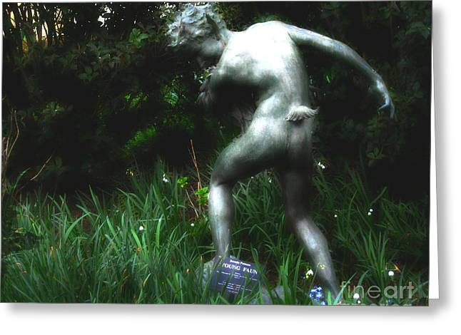 Greek Sculpture Greeting Cards - Mythological Faun Greeting Card by ARTography by Pamela  Smale Williams