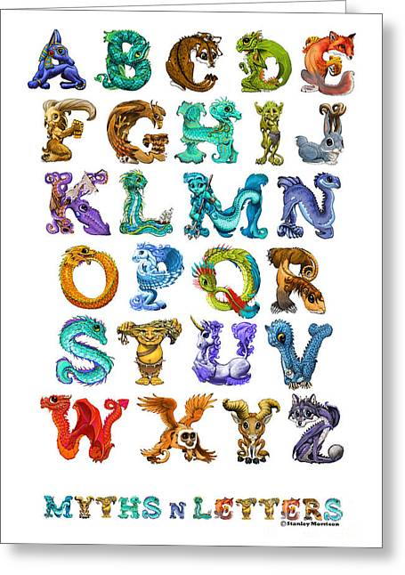 Myths N Letters Greeting Card by Stanley Morrison