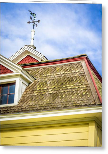 Wind Vane Greeting Cards - N S E W Greeting Card by Steve Spiliotopoulos