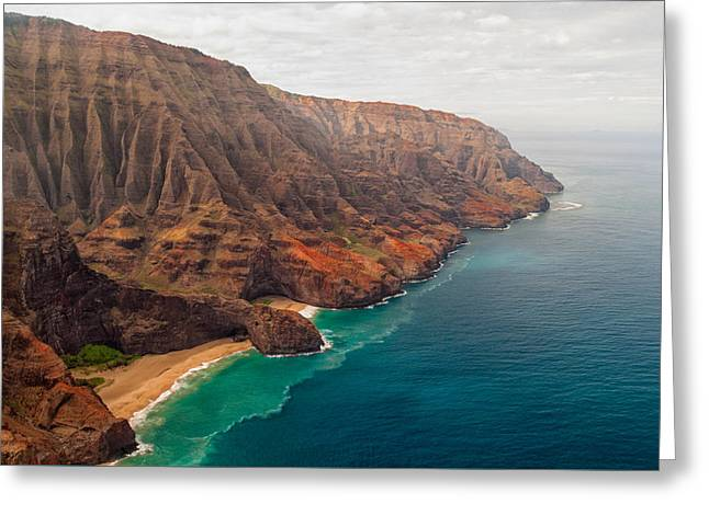 Best Ocean Photography Greeting Cards - Na Pali Coast 3 Greeting Card by Brian Harig