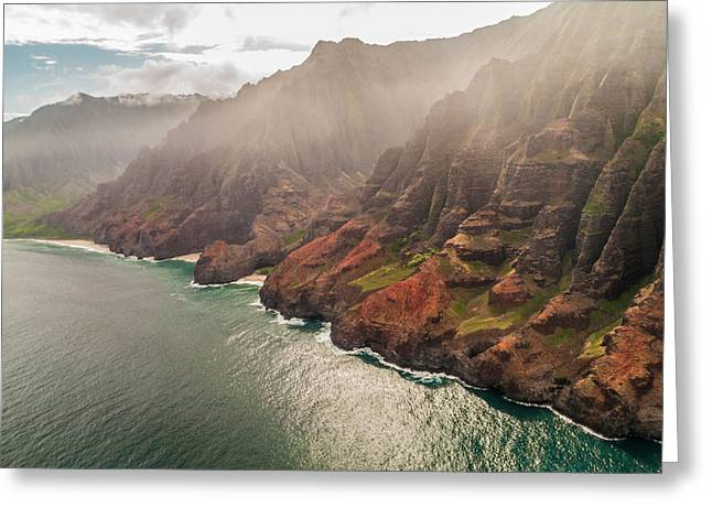 Na Pali Coast 4 - Kauai Hawaii Greeting Card by Brian Harig