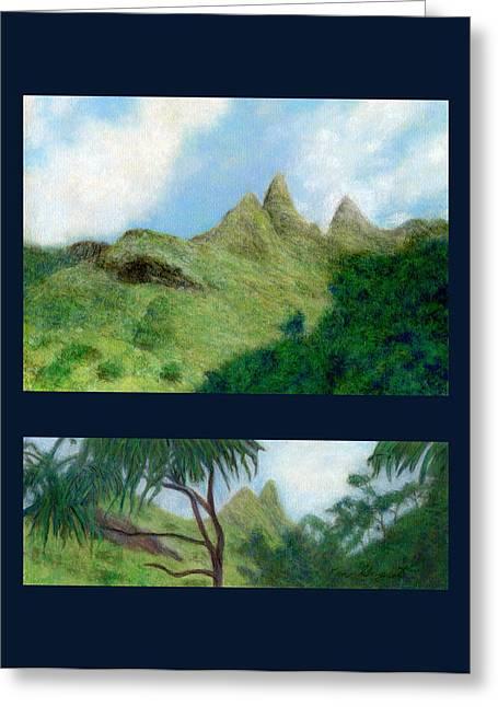 Kauai Greeting Cards - Na Pali Views Greeting Card by Kenneth Grzesik