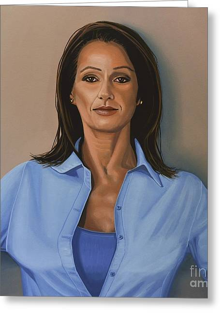 Sophisticated Woman Greeting Cards - Nadia Comaneci Greeting Card by Paul Meijering