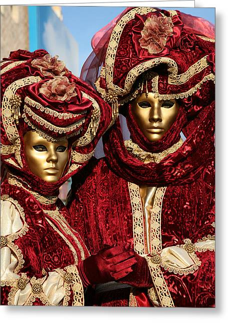 Nadine Greeting Cards - Nadine and Daniel in Red 2 Greeting Card by Donna Corless