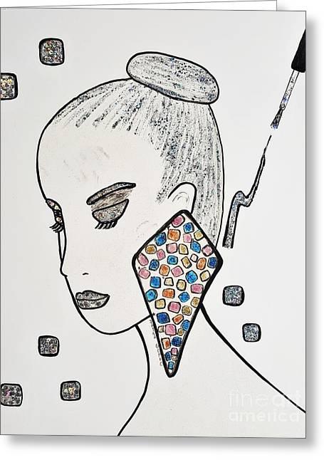 Art Book Greeting Cards - Nail Polish Make Up Greeting Card by Jasna Gopic