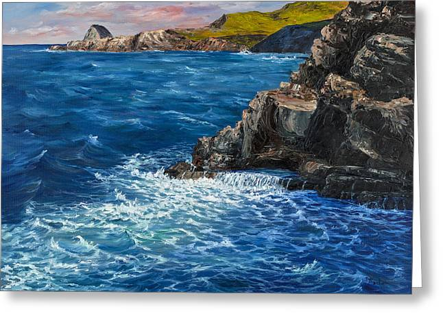 Nakalele Blow Hole Greeting Cards - Nakalele Point Maui Greeting Card by Darice Machel McGuire