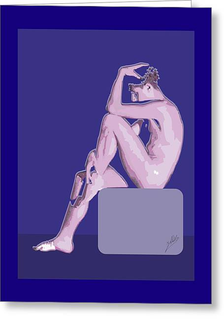Naked Boy Greeting Card by Joaquin Abella
