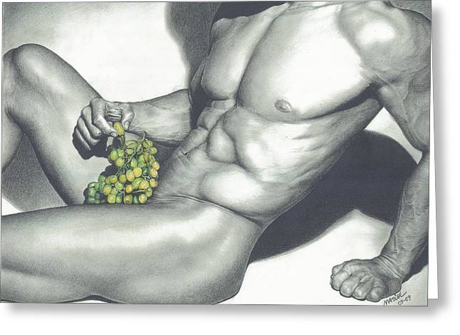 Photo Art Gallery Drawings Greeting Cards - Naked Grapes Greeting Card by Maciel Cantelmo