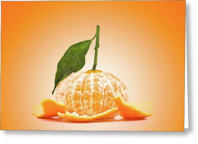 Naked Orange Greeting Card by Wim Lanclus