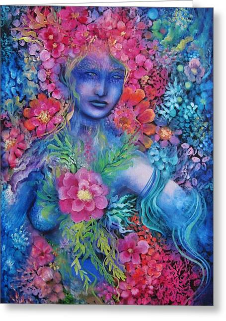 Print On Canvas Greeting Cards - Namaka Greeting Card by Tamarah Phillips
