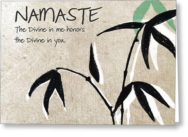 Namaste Greeting Card by Linda Woods
