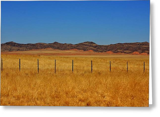 The Plateaus Greeting Cards - Namib Desert 3 Greeting Card by Stacie Gary