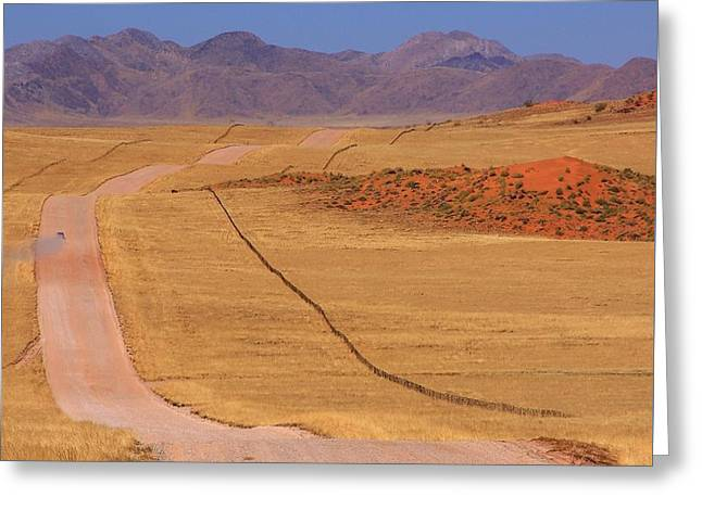 The Plateaus Greeting Cards - Namib Desert  Greeting Card by Stacie Gary