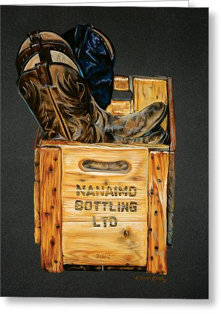 Bottle. Bottling Pastels Greeting Cards - Naniamo Bottling Ltd Greeting Card by Marni Koelln