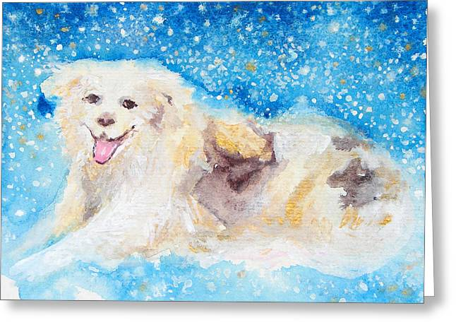Dream Scape Paintings Greeting Cards - Nanny Bliss Greeting Card by Ashleigh Dyan Bayer