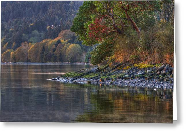 Bc Coast Greeting Cards - Nanoose Morning Greeting Card by Randy Hall