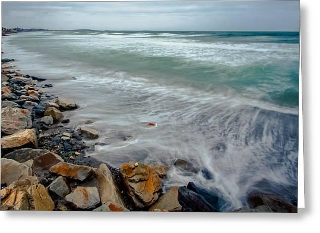 Hull Ma Greeting Cards - Nantasket Beach Greeting Card by Brian MacLean