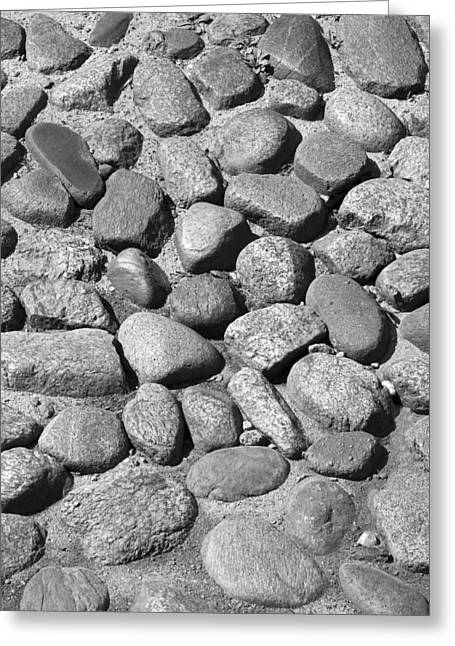 Nantucket Cobblestones Greeting Card by Charles Harden