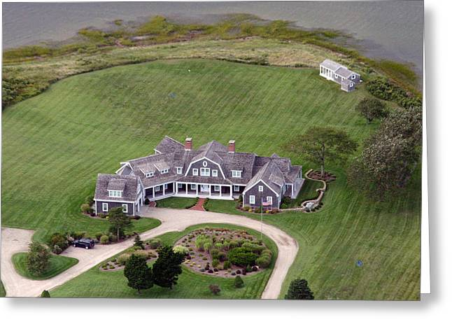 Custom Aerial Greeting Cards - Nantucket Harbor House 3 Greeting Card by Duncan Pearson