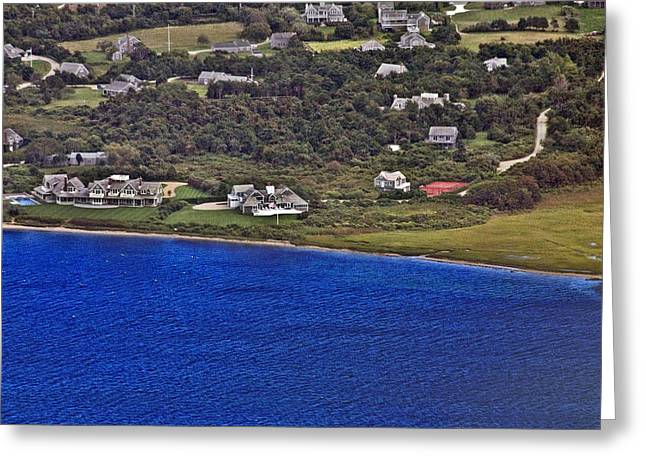 Custom Aerial Greeting Cards - Nantucket Harbor House 4 Greeting Card by Duncan Pearson