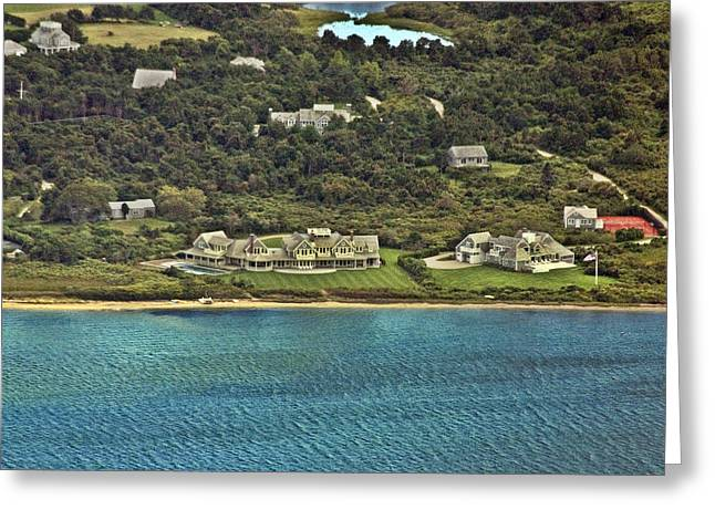 Custom Aerial Greeting Cards - Nantucket Harbor House 6 Greeting Card by Duncan Pearson