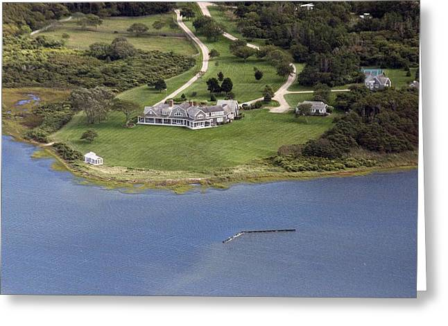 Custom Aerial Greeting Cards - Nantucket Harbor House 7 Greeting Card by Duncan Pearson