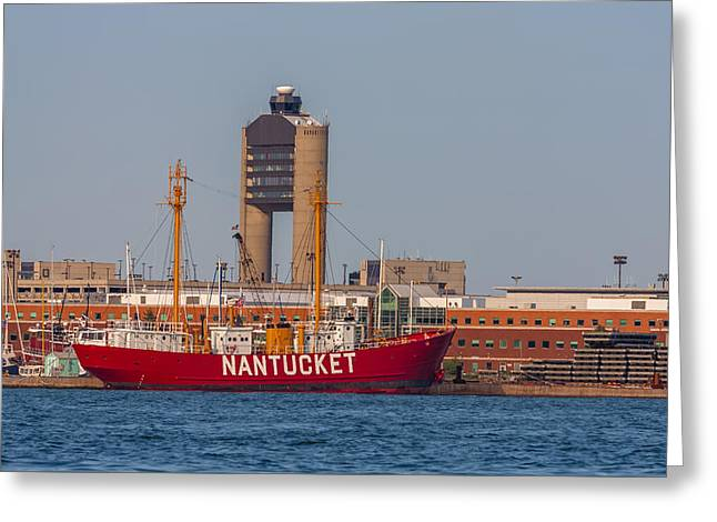 Traffic Control Greeting Cards - Nantucket Lightship WLV-612 Greeting Card by Brian MacLean