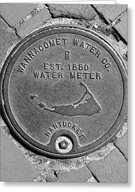 Nantucket Water Meter Cover Greeting Card by Charles Harden