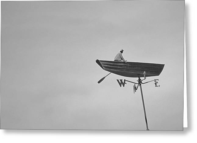 Nantucket Weather Vane Greeting Card by Charles Harden