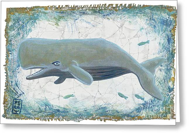 Nantucket Whale Greeting Card by Danielle Perry